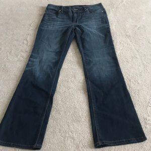 White House Black Market Slim Boot Cut Jeans Sz 8s